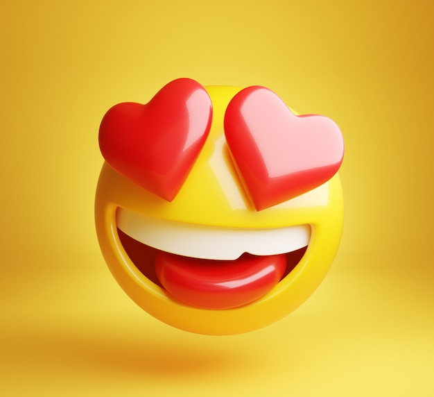 Zakochać się emoji 3d