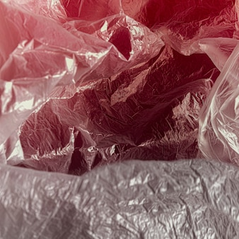 Zakończenie abstrakta plastikowej torby pojęcie