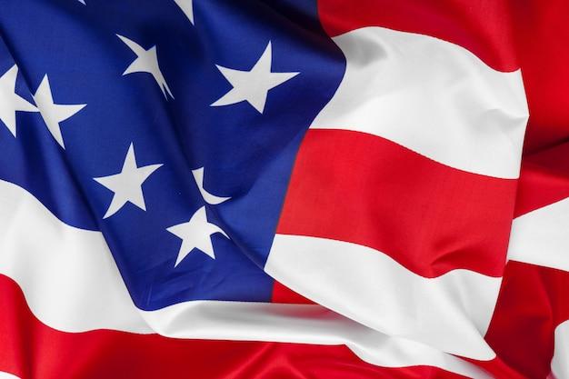 Zakończenie falowanie flaga amerykańska