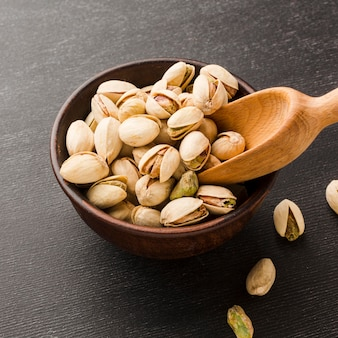Zakończenie pistacja w pucharze