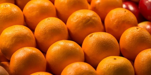 Zakończenie pomarańcze dla sprzedaży przy targowym kramem, szczupaka miejsca rynek, seattle, stan washington, usa