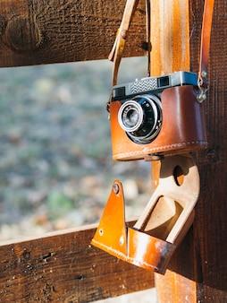 Zakończenie retro fotografia kamera