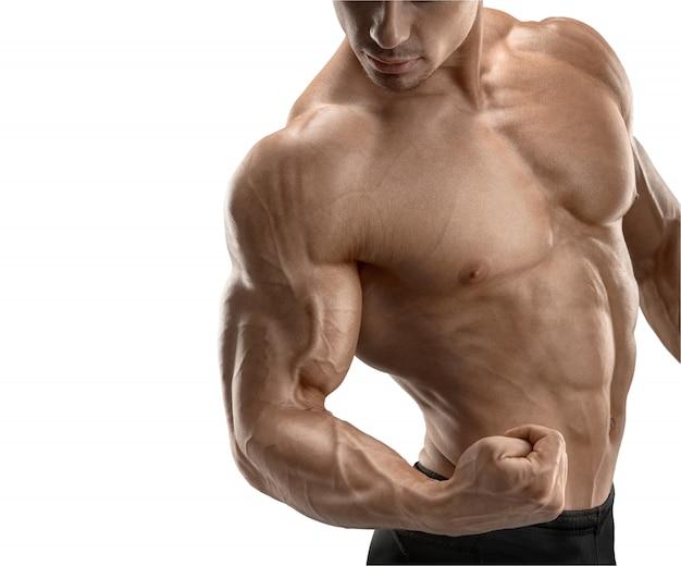 Zakończenie sportowa mięśniowa ręka
