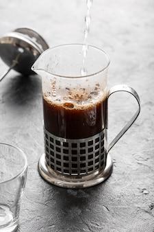 Zakończenie świeża organicznie włoska kawa