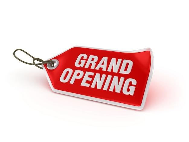 Zakupy cena tag grand opening