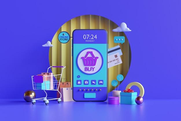Zakupy internetowe. sklep internetowy na stronie internetowej lub aplikacji mobilnej