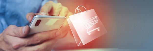 Zakupy online aplikacja ikony biznesowej