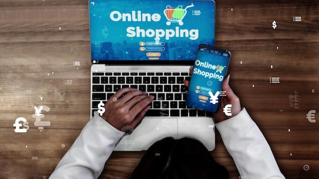 Zakupy online i koncepcja technologii pieniądza internetowego