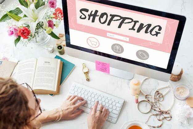 Zakupy online konsumpcjonizm połączenie koncepcja sprzedaży