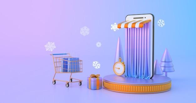 Zakupy online na stronie internetowej lub w aplikacji mobilnej.