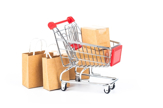 Zakupy online w domu koncepcja. zakupy online to forma handlu elektronicznego