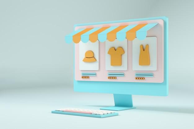 Zakupy online z komputera z miejscem na kopię