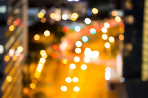 Zamazana ruchliwa ulica miasta