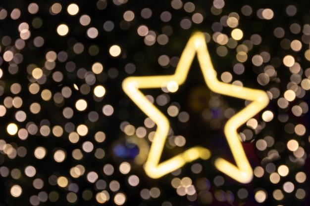 Zamazane boże narodzenie glittler gwiazdy światło dla tła