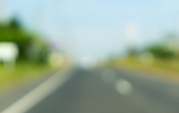 Zamazane obrazy tła drogi asfaltowej