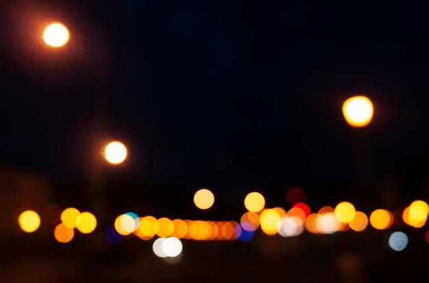 Zamazany obraz - jasne miasto światła