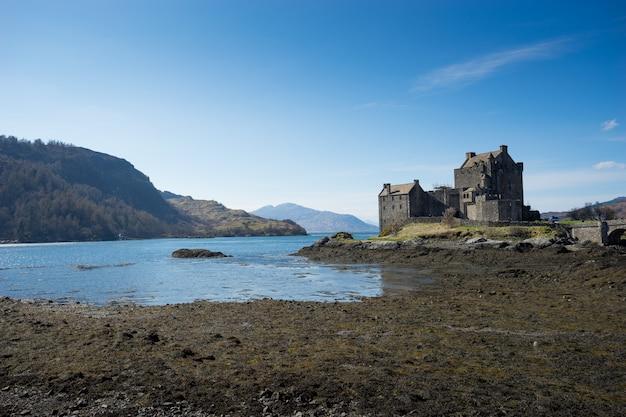 Zamek eilean donan, szkocja, wyspa, skye
