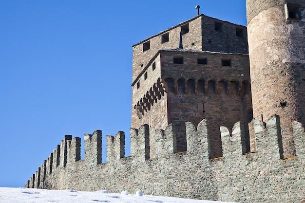 Zamek fenis jest jednym z najsłynniejszych zamków w dolinie aosty - we włoszech ze względu na spektakularną architekturę i liczne wieże