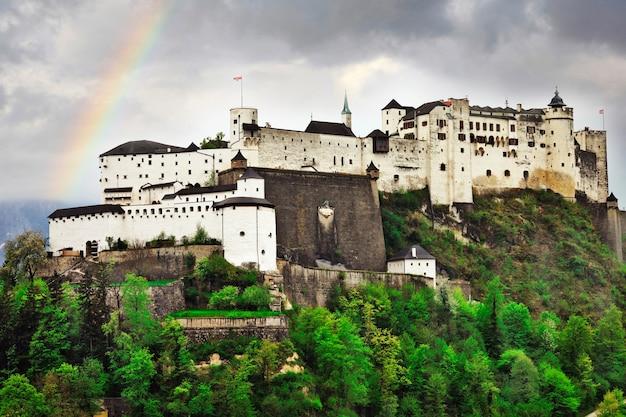 Zamek hohensalzburg, salzburg, austria