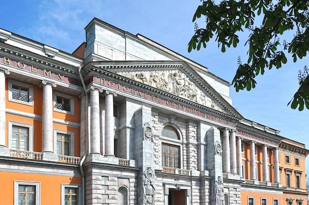 Zamek mihajłowskij w sankt petersburgu, rosja