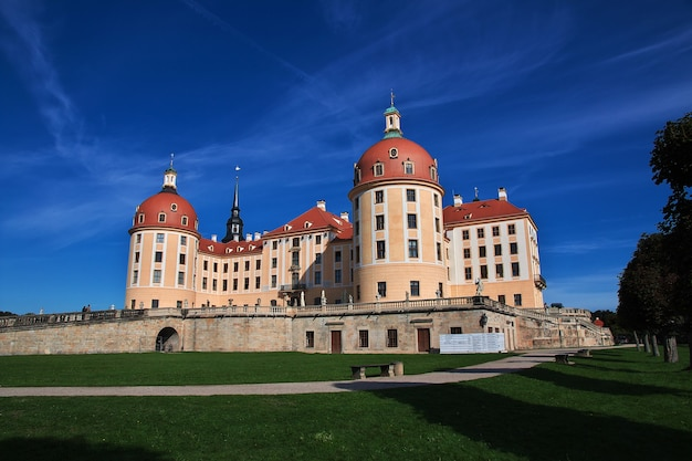 Zamek moritzburg w niemczech, saksonia