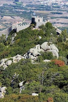Zamek mouros, sintra, portugalia