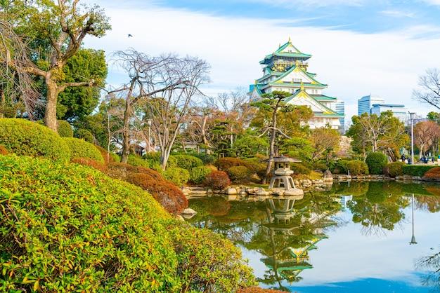Zamek osaka w osace w japonii