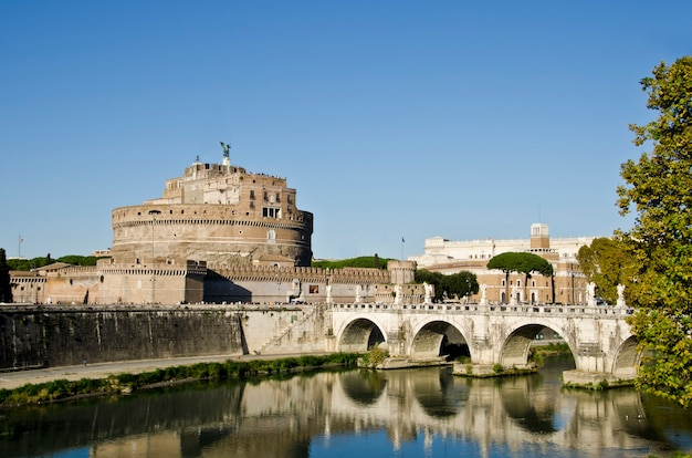 Zamek sant angelo w rzymie, włochy