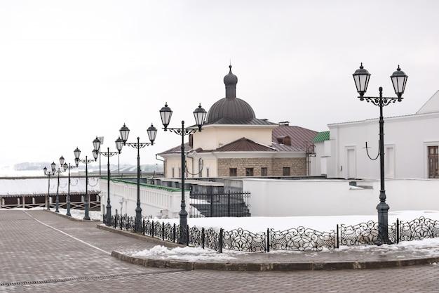 Zamek ściana i wieża kremla