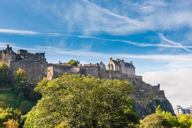 Zamek w edynburgu, szkocja, wielka brytania