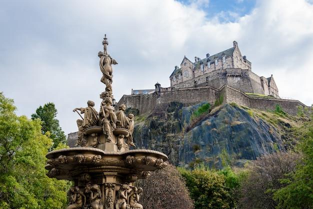 Zamek w edynburgu, szkocja