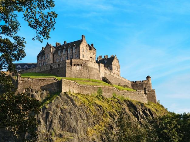 Zamek w edynburgu w szkocji, wielka brytania
