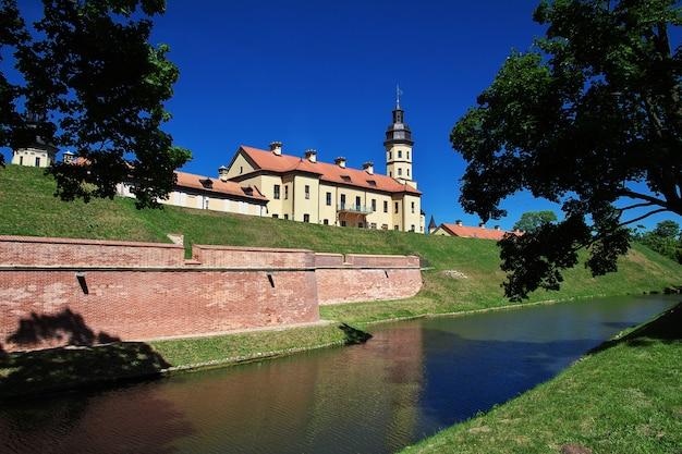 Zamek w nieświeżu w kraju białoruś