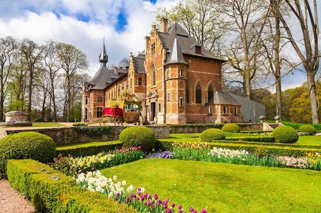 Zamki belgii, groot-bijgaarden ze słynnymi ogrodami