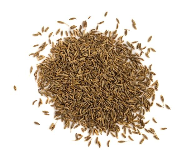 Zamknąć stos nasion kminku lub zira samodzielnie