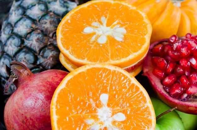 Zamknąć świeże owoce mieszanki