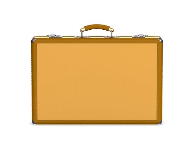 Zamknięta torba podróżna na białym tle