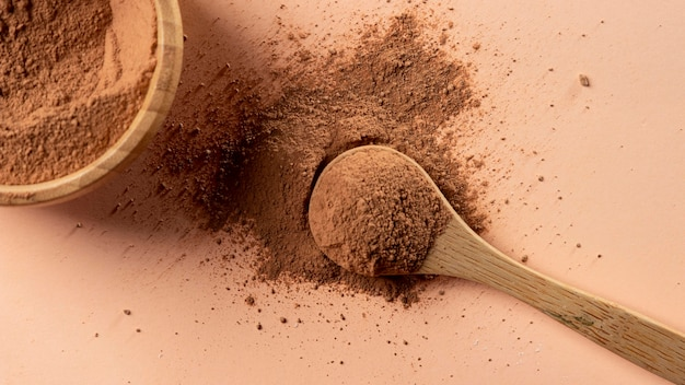 Zamknij mieszaninę gliny w proszku