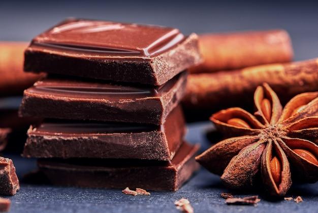 Zamknij się apetyczny czekolada mleczna