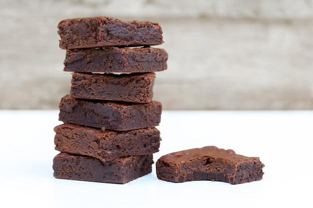 Zamknij się domowe czekoladowe ciasteczka z miejsca na kopię