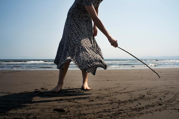 Zamknij się japoński na plaży?