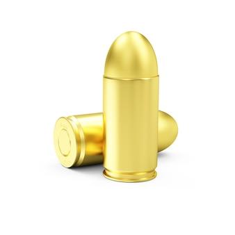 Zamknij się na grupie gun bullets na białym tle