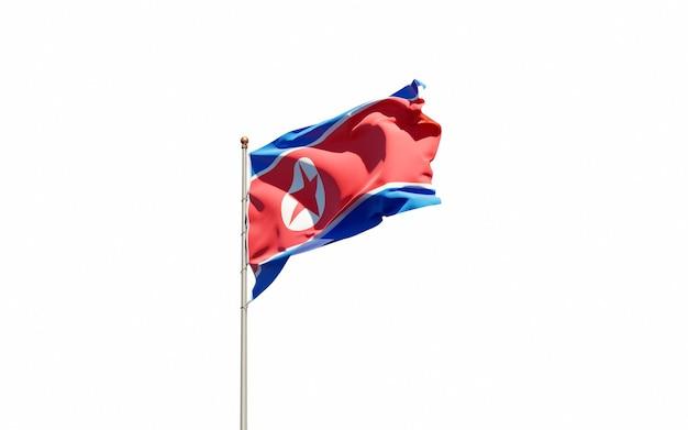 Zamknij się na renderowaniu izolowanych flagi narodowej