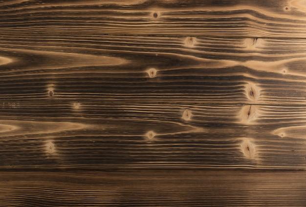 Zamknij się na spalonym tle tekstury drewna