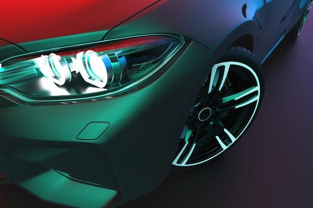 Zamknij Się Ogólny I Pozbawiony Brandów Nowoczesny Samochód Premium Zdjęcia