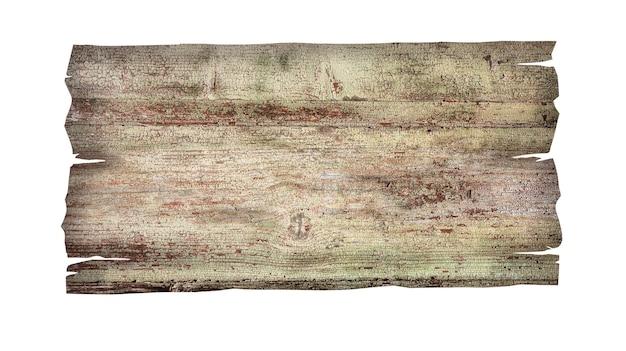 Zamknij się pusty drewniany znak na białym tle