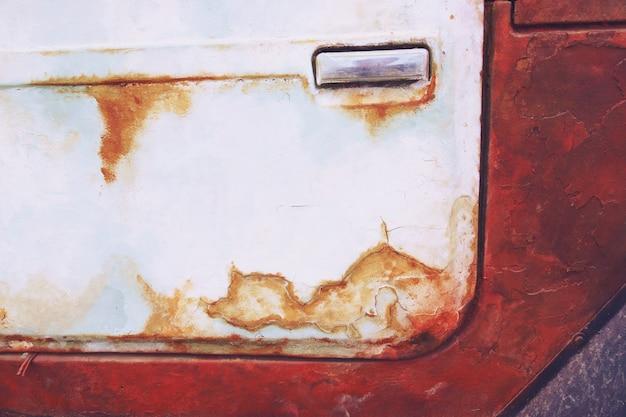 Zamknij się szczegółów rusty rocznika stary samochód