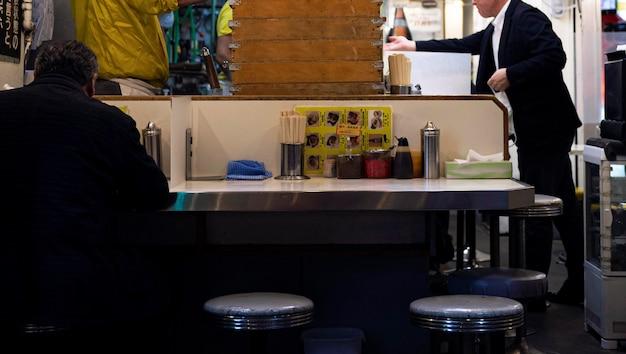 Zamknij się tradycyjny japoński food court