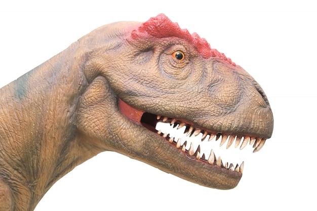 Zamknij się z głową dinozaura