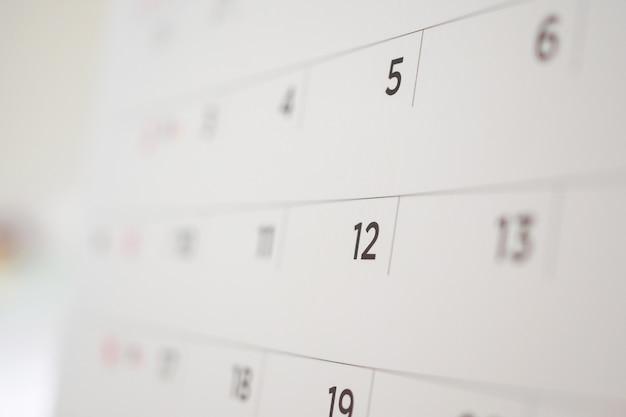 Zamknij stronę kalendarza
